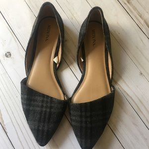Women Merona Size 8.5 Pointed Slip On Flats Shoes